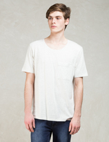 Nudie Jeans White S/S Roundneck Pocket T-shirt