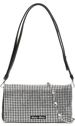 Miu Miu Crystal Embellished Clutch Bag