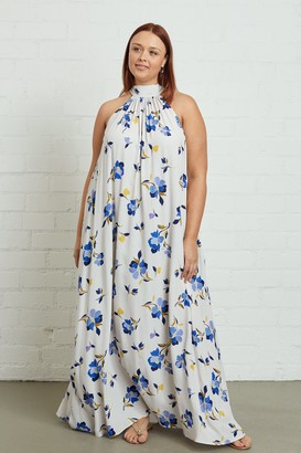 White Label Crepe Lotus Dress - Plus Size