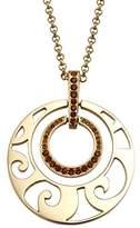 Pierre Cardin Women'S Necklace Stainless Steel Rhodium-Plated Glass Blue Topaz L'Orbite S.PCNL10024H420 42 CM Brown