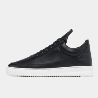 Filling Pieces Black Nappa Low Top Lane Trainers Sneaker - 36