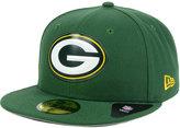 New Era Green Bay Packers Beveled Team 59FIFTY Cap