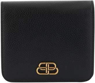 Balenciaga Compact BB leather purse