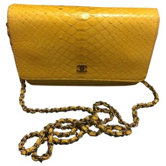Chanel Wallet on Chain Yellow Python Clutch bags