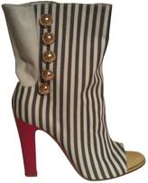 Christian Louboutin White Cloth Sandals