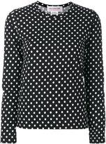 Comme des Garcons dots longsleeved T-shirt - women - Cotton - XS