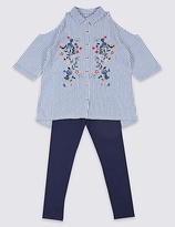 Marks and Spencer 2 Piece Shirt & Leggings Outfit (3-14 Years)