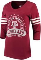 Alta Gracia Adult Women /½ Zip Fleece Sweatshirt Large Maroon