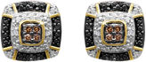 Black Diamond FINE JEWELRY 1/10 CT. T.W. White, Champagne and Color-Enhanced Earrings