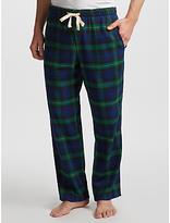 John Lewis Black Watch Brushed Cotton Lounge Pants, Navy/green