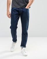 Farah Nimes Tapered Jeans In Denim Blue
