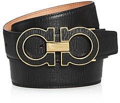 Salvatore Ferragamo Men's Double Gancini Leather Belt