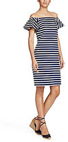 Lauren Ralph Lauren Striped Off-the-Shoulder-Dress