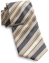 Gold Series Ombre Stripe Tie With Tie Bar Casual Male XL Big & Tall