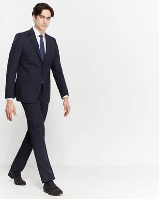 Versace Two-Piece Navy Plaid Suit
