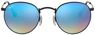 Ray-Ban Round Flash Lenses Gradient Sunglasses