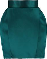Balmain Satin-faille mini skirt
