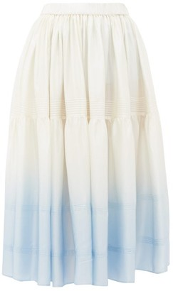 Anaak Avadi Degrade Silk-charmeuse Skirt - Blue Multi