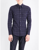 Tom Ford Checked Western Cotton Shirt