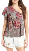 BP Women's Floral Print One-Shoulder Top