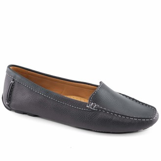 Driver Club Usa Women's Genuine Leather Made in Brazil Hampton Loafer Shoe