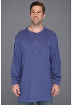Nautica Big Tall Long Sleeve Solid Packet Henley (Union Blue) - Apparel