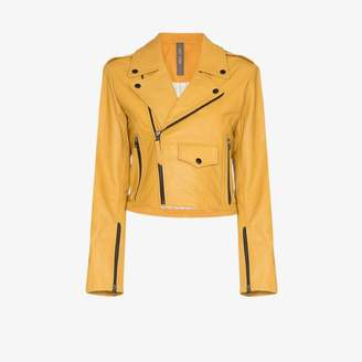 Isabella Collection Lot Lthr grained leather biker jacket