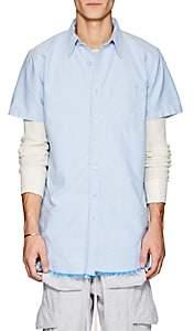 NSF Men's Cotton Oxford Elongated Shirt-Lt. Blue