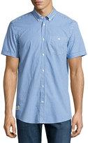 Wesc Gert Printed Button-Front Shirt, Process Blue