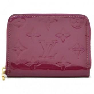 Louis Vuitton Purple Patent leather Purses, wallets & cases