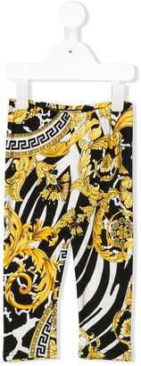 Versace Barocco print trousers