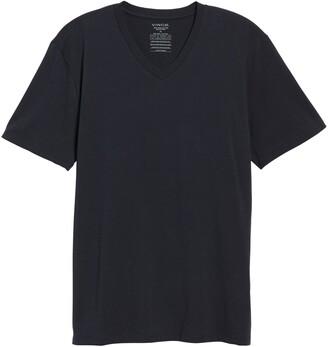 Vince Pima Cotton Slim Fit V-Neck T-Shirt