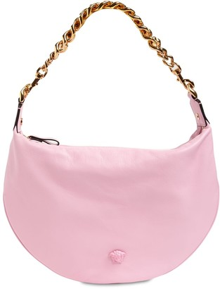 Versace Leather Hobo Bag W/Chain Strap