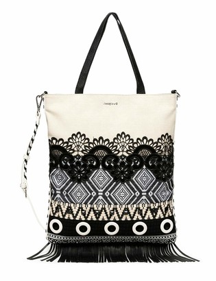 Desigual Women's BOLS_Black White CORO