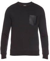 A.p.c. Crew-neck Cotton-jersey Sweater