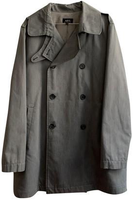A.P.C. Grey Cotton Coats