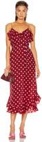 Zimmermann Scallop Tank Dress in Cerise & Pink Dot | FWRD