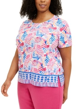 Alfred Dunner Plus Size Printed Tee