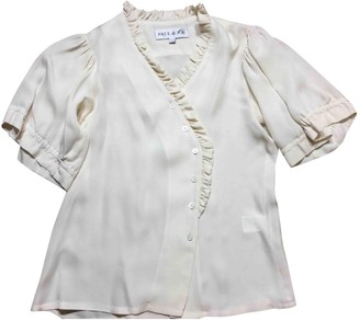 Paul & Joe Ecru Silk Top for Women