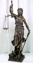 Justice Not Just an Empty Box NEW! Huge Lady Scales of Justitia Lawyer Attorney Gift