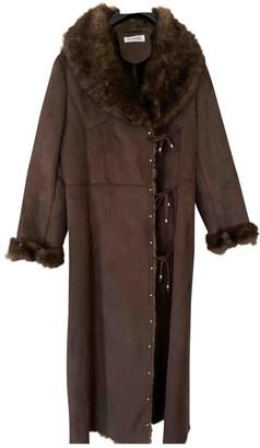 Balmain Brown Faux fur Coat for Women