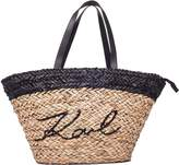 Karl Lagerfeld Straw Ikonik Shopper Bag