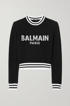 Balmain Intarsia Wool-blend Sweater