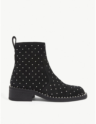 Zadig & Voltaire Empress studded suede ankle boots