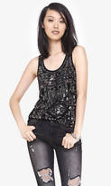 Black And Silver Aztec Sequin Tank