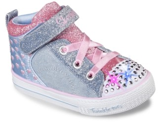 Skechers Twinkle Toes Shuffles Light-Up High-Top Sneaker - Kids'