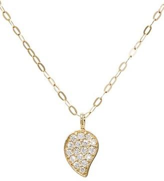 Tamara Comolli 18K Yellow Gold & Diamond Pave Drop Pendant Chain Necklace