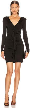 Alexandre Vauthier Crepe Knit Mini Dress in Black | FWRD