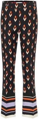 Valentino Printed wool-blend slim pants