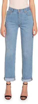 Victoria Victoria Beckham Arizona High-Rise Straight-Leg Jeans